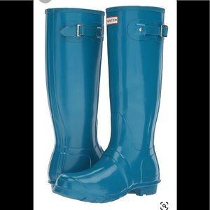 GentlyUsed HUNTER Torquiose Women Rain Boots: 6